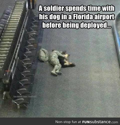 Before being deployed